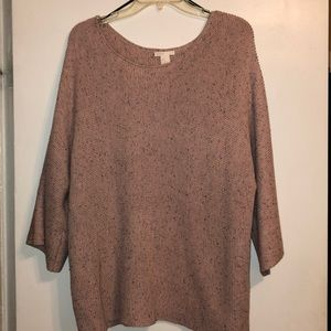 Very oversized pink and grey speckled H&M sweater
